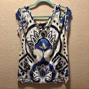 INC international concepts sequin shirt